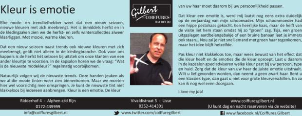 Column Witte Weekblad: Kleur is emotie