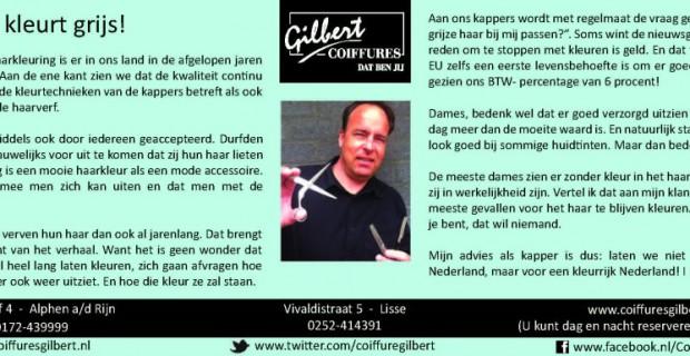 Column Witte Weekblad: Nederland kleurt grijs!