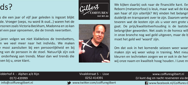 Column Witte Weekblad: Trends?