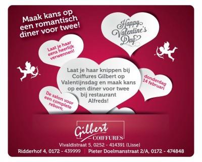 Kom op 14 februari en win een diner voor 2 bij Alfreds!